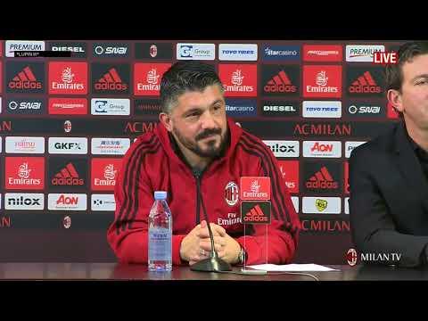Gattuso conferenza stampa pre Cagliari   Milan del 20 01 2018 FULL HD