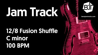 12/8 Fusion Shuffle Jam Track in C minor - BJT #46