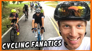 Found the CYCLING FANATICS in Florida!! Layover in New York City & IRON MAN training.