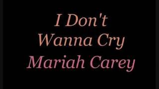 I Don't Wanna Cry - Karaoke for Male