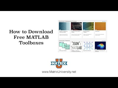 Download Free MATLAB Toolboxes - YouTube