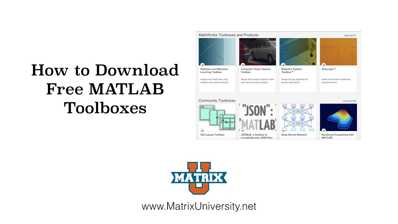 Download Free MATLAB Toolboxes