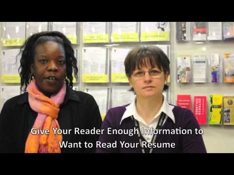 YMCA Employment Services Tip: Cover Letter Writing