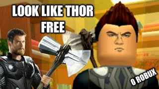 HOW TO LOOK LIKE THOR ON ROBLOX FOR FREE!!!