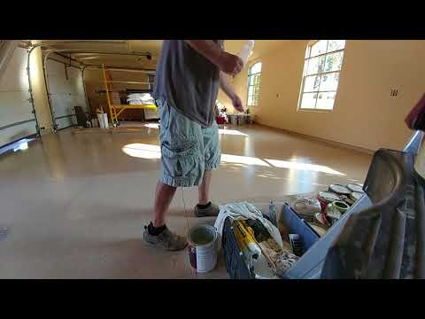 How to refinish garage floor with water base epoxy