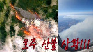 호주 산불사태 상황, 국가재난, 비행 지옥. 보시고 응…