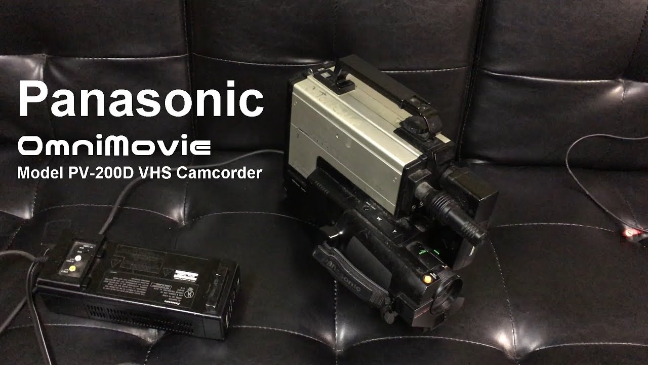 1985 Panasonic Omnimovie Pv 200d Full Size Vhs Camcorder Youtube