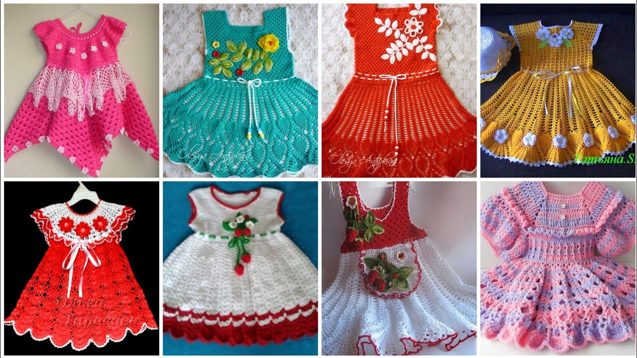 Hand Knitted Crochet Baby Frocks Patterns And Ideas