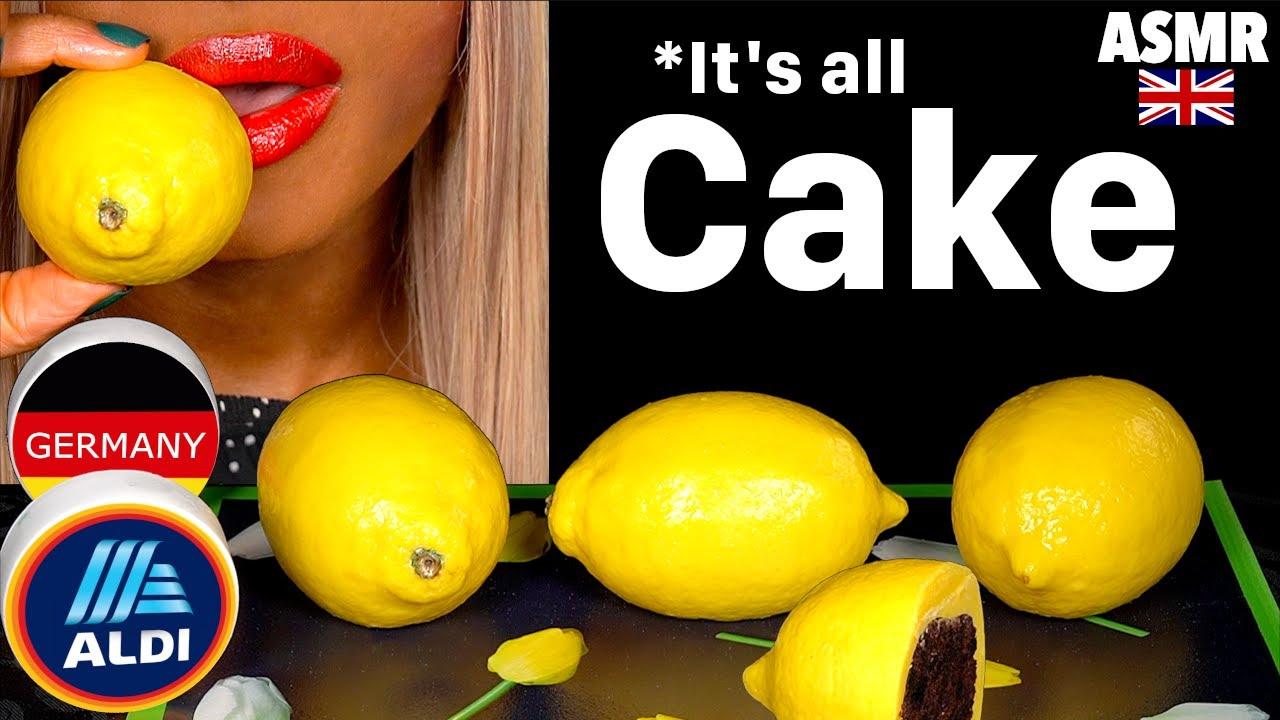 ASMR EATING REALISTIC CAKE LEMON FRUIT, IT'S ALL CAKE, EDIBLE PRANK, CAKE CUTTING, OREO MUKBANG 먹바