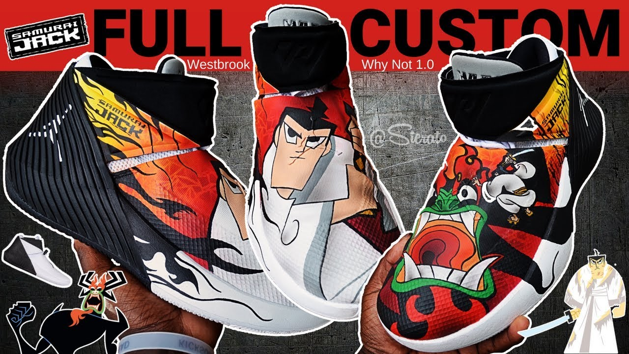 premium selection 95fdb d3bea Full Custom   Samurai Jack Aku Westbrook Why Not 1.0 Jordan by Sierato