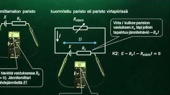 Lähdejännite ja sisäinen resistanssi FY YO 2014/7