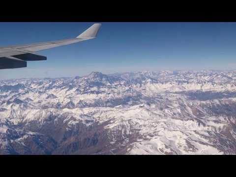 FLYING OVER THE ANDES MOUNTAINS !