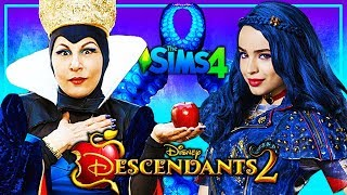 DESCENDANTS 2 - Sims 4 💗 EVIE'S 4 HEARTS 💗 SHOPPING FOR COTILLION | Disney's Descendants