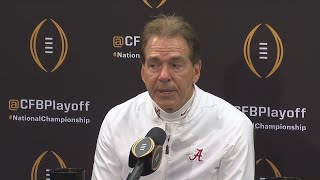 Post National Championship game interview with Nick Saban