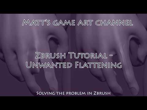 Zbrush - Flat Geometry problem fix