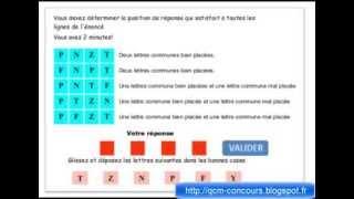 Test psychotechnique mastemind ou carré logique explication vidéo