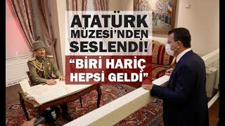 """İmamoğlu'ndan Erdoğan'a gönderme; """"Atatürk'ün evine biri hariç tüm Cumhurbaşkanları geldi""""."""