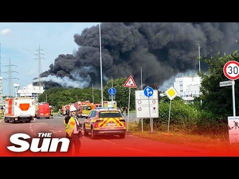 Germany Explosion – Leverkusen waste plant blast, sixteen injured & five missing in
