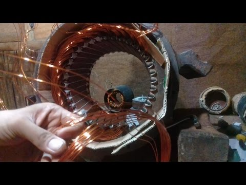 Cara Menggulung generator Genset 3 fashe380/220 volt  35.000 wat  50 Hz