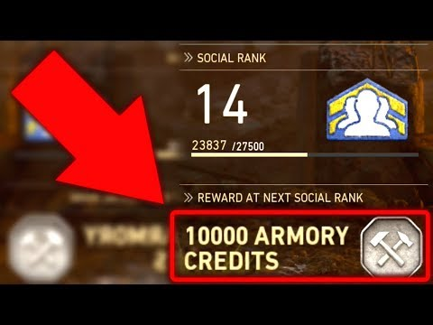 FREE 10,000 Armory Credits?! (Importance of Social Rank)