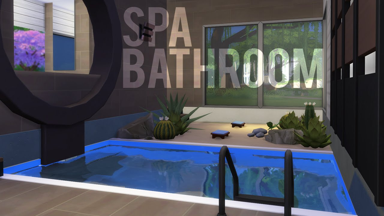 The Sims 4 Room Build U2014 Spa Bathroom   YouTube