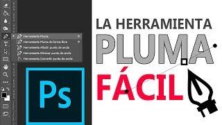 Tutorial Herramienta Pluma en Photoshop - FÁCIL!