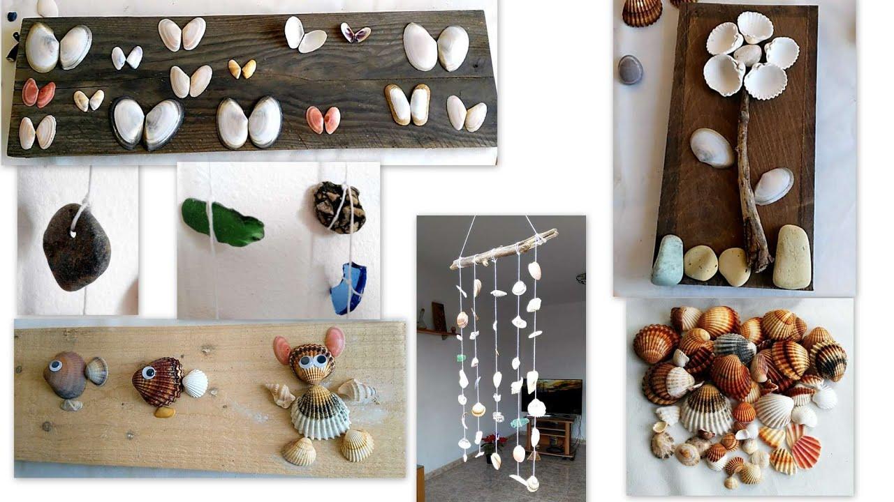 Manualidades con reciclaje conchas y caracoles movil de - Manualidades decorativas para el hogar ...