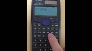 CASIO fx-915ES べき乗の計算