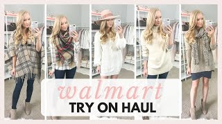 HUGE WALMART TRY ON HAUL AND SHOP WITH ME 2018 FALL OUTFITS   Amanda John