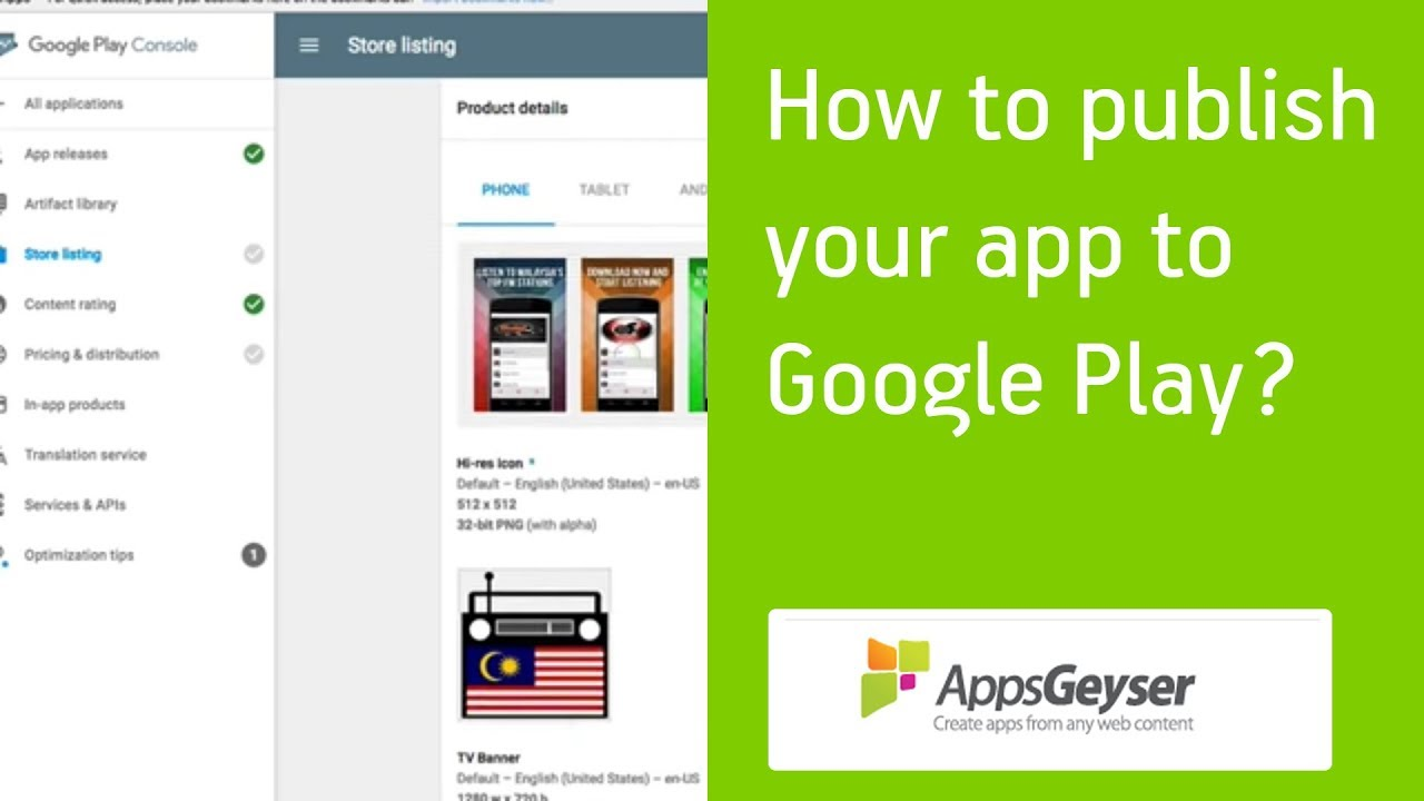 publish apps on google play