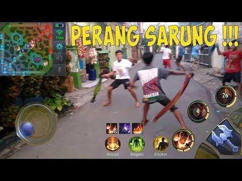 MOBILE LEGENDS MODE PERANG SARUNG!!!! (AUTO NGAKAK)