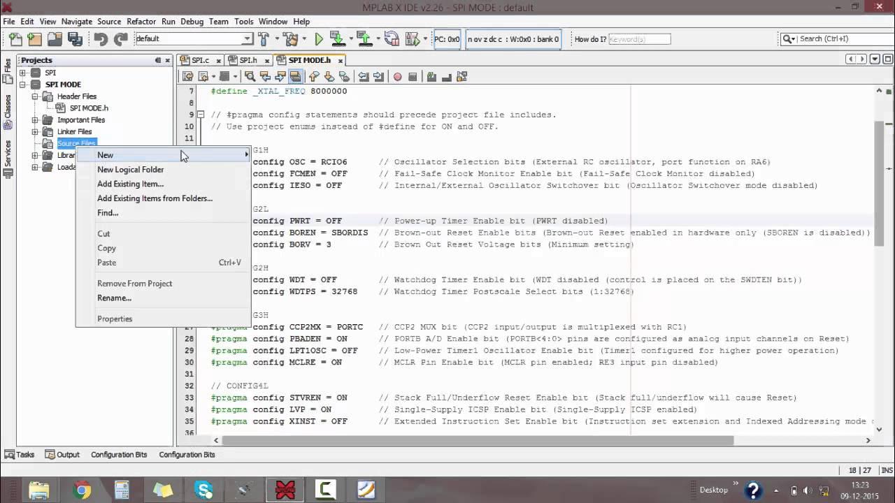 Tutorial 14 SPI mode of PIC microcontroller-Program & circuit simulation