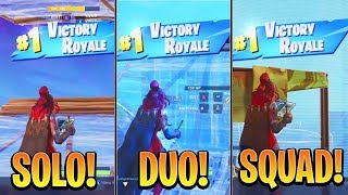 Which Gamemode is the EASIEST to WIN? (Solo/Duos/Squads) Console Fortnite Xbox/Ps4 Tips!