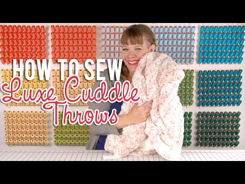 How to Sew Luxe Cuddle Throws (minky fabric) | Fat Quarter Shop