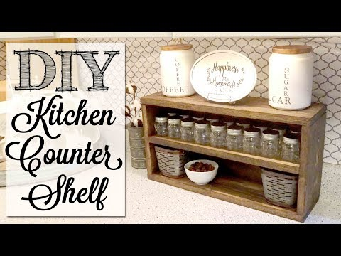 DIY Kitchen Counter Shelf