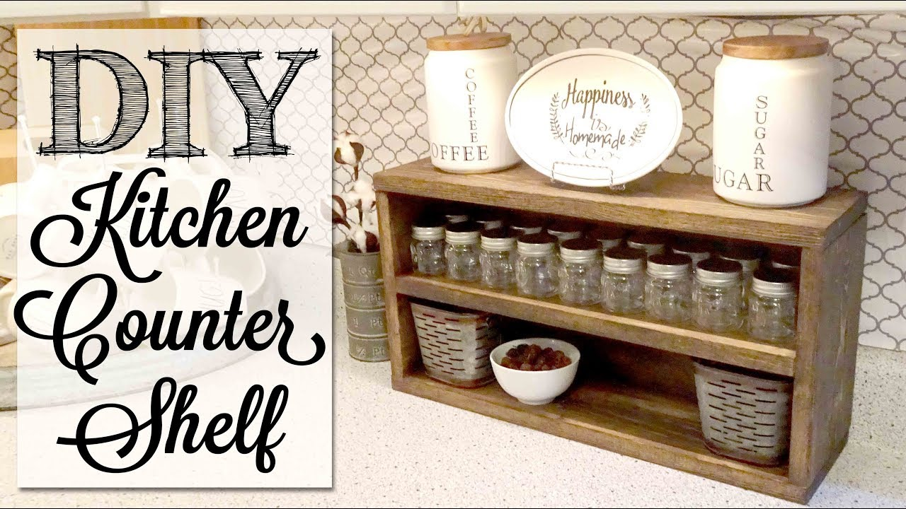 diy kitchen counter shelf youtube. Black Bedroom Furniture Sets. Home Design Ideas