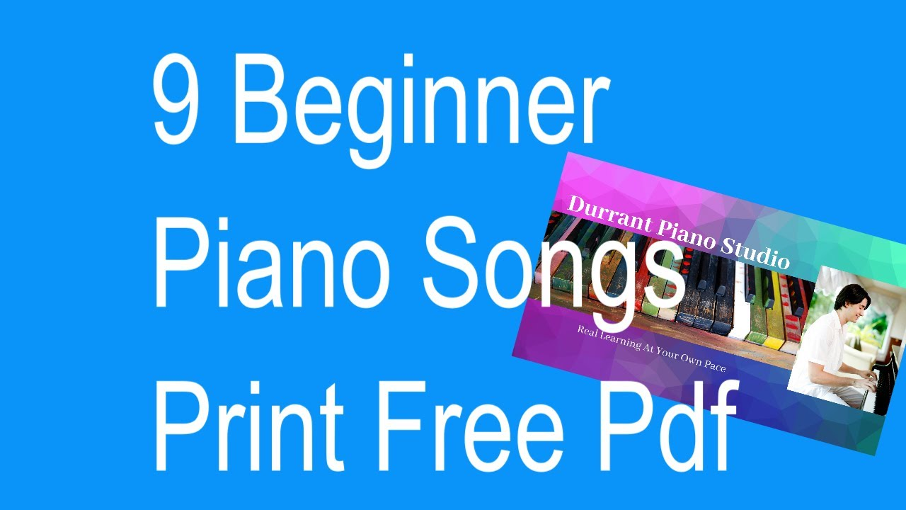 Simple Piano Songs for Beginners in C Major Pop Sheet Music