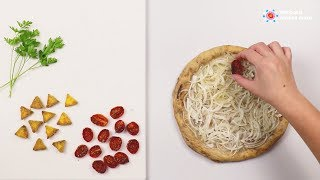 Onions & Anchovies Homemade Pizza - FOOD ART