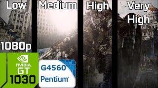 Metro: Last Light Redux [PC] GT 1030 2GB GDDR5 & Intel Pentium G4560 & 8GB RAM