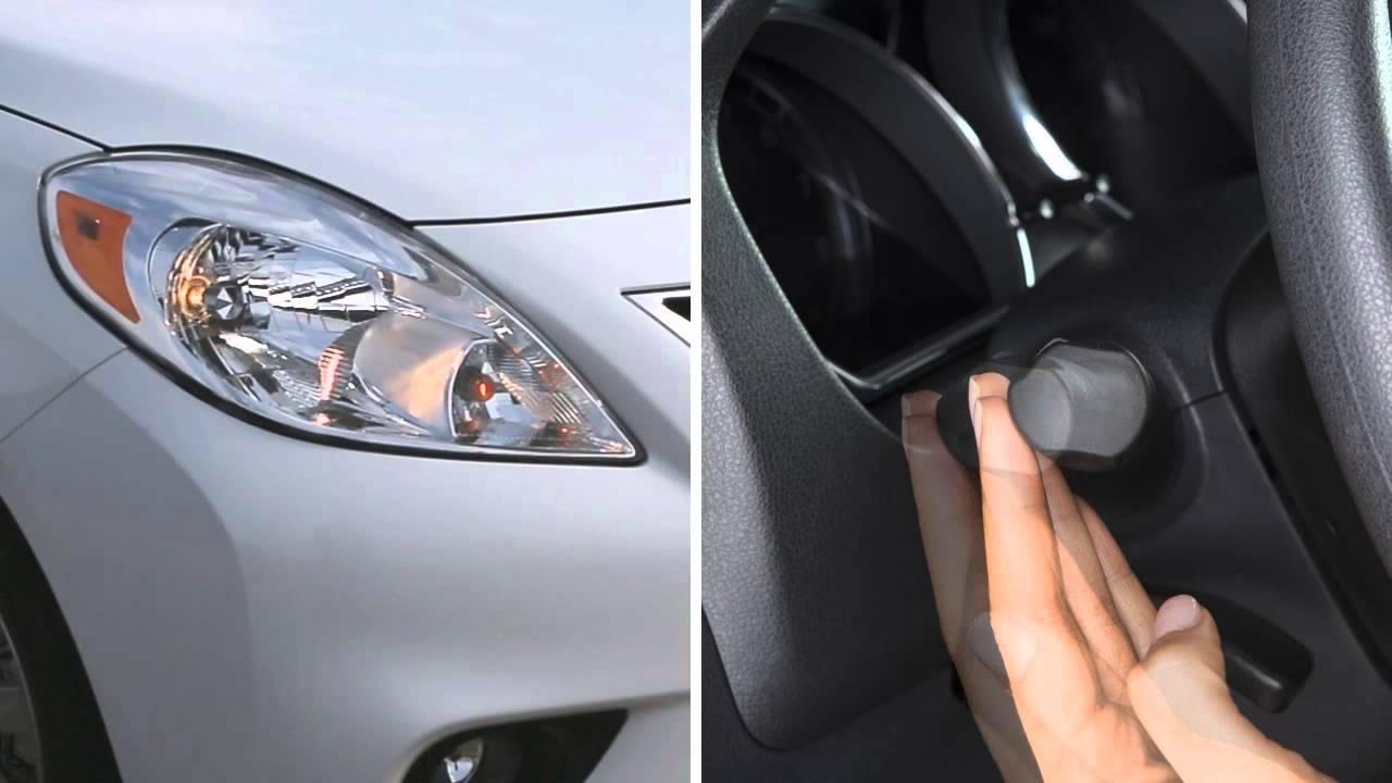 2014 nissan versa sedan headlights and exterior lights youtube