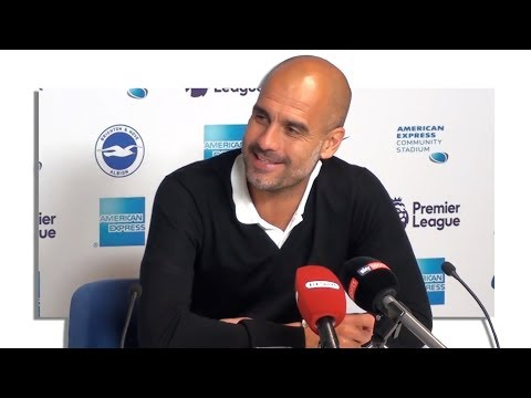 Brighton 0-2 Manchester City - Pep Guardiola Post Match Press Conference - Embargo Extras