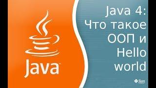 Урок по Java 4: ООП - Объектно ориентированное программирование и разбор программы Hello World.