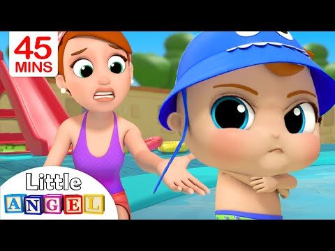 No No Swimming! | Baby John's Water Adventures & More Nursery Rhymes by Little Angel