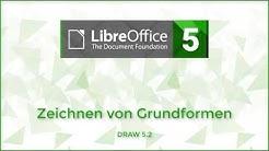 Zeichnen von Grundformen in LibreOffice Draw (Deutsch)