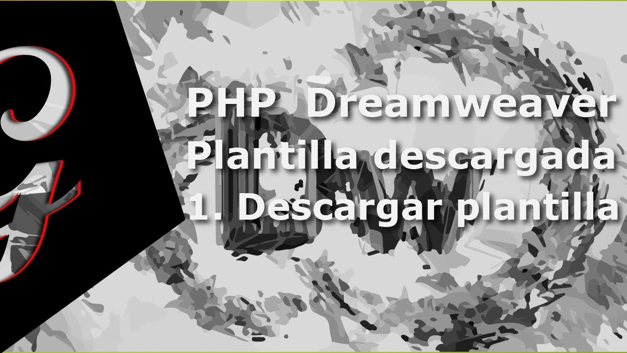 crear página Php Dreamweaver con plantilla descargada (1-4) - YouTube