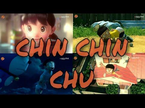 mera naam Chin chin chu (remix) video song cartoon animated version (doraemon style)