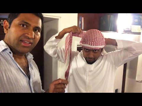 How to Wrap an Arab Head Scarf Keffiyeh