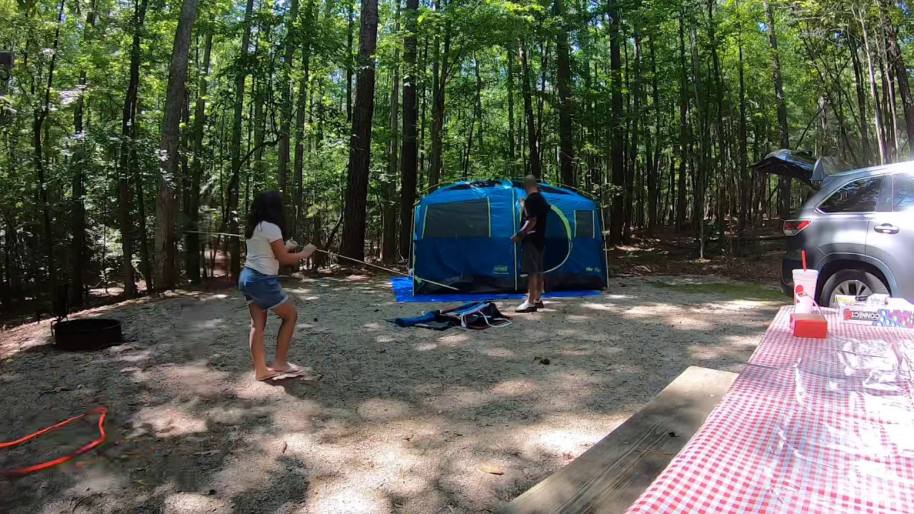 Falls Lake, NC - Holly Point Campground - YouTube