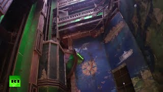 Diver shipwreck footage: Inside submerged Costa Concordia