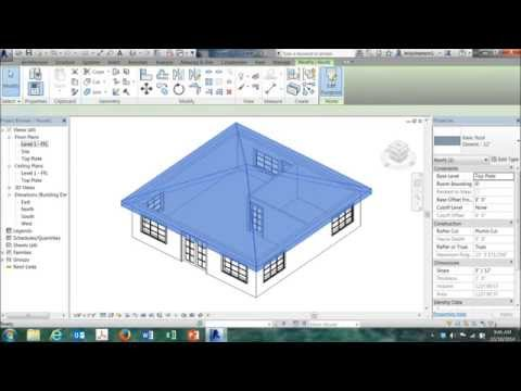 Easy Revit House Project for CEA Class